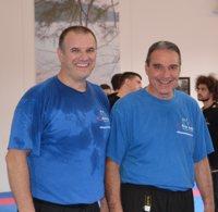 Nenad Stojkovic und Bruno Trachsel am 11. Krav Maga Self Protect Instruktoren Lehrgang in Liestal