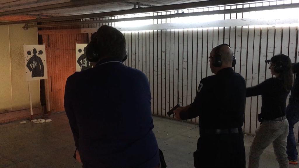 testschießen von pistolen